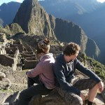 The boys at Machu Picchu