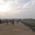 Walking to the platform