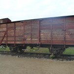 Recovered train car.  Hundreds crammed in for days at a time, traveling from all over Europe, they would not see daylight until the door opened on the platform