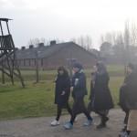Jewish women return from a memorial service