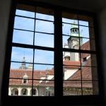 Through the armory window