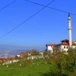 A suburb faith. A Mosque on the outskirts near Bosnian Serb positions.