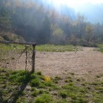 Just a game?  An abandoned pitch near Bosnian Serb lines