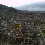 Key buildings. The view from the Twist tower. A new 173 metre structure that is the tallest in Eastern Europe.