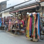 Colourful wares in old town streets