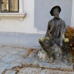 A statue of an alcoholic - he drank Rakija every single day