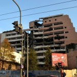 Bomb damage.  The former Yugoslav Ministry of Defence