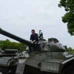 Climbing on a tank