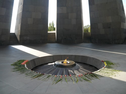 The memorial eternal flame