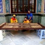 Restoration workmen at Tajrish mosque