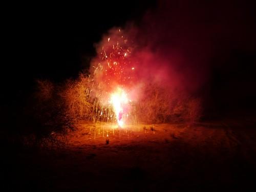 Desert fireworks