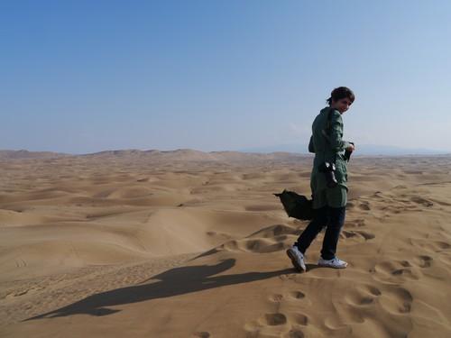 Sarvenaz finds me sand