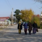 Turkmens in a little village outside the city - signs of life