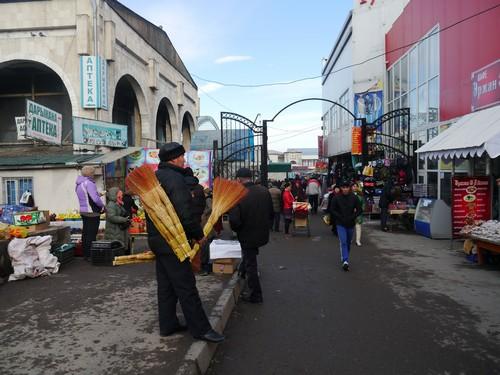 Pre snow.  The Osh Bazaar