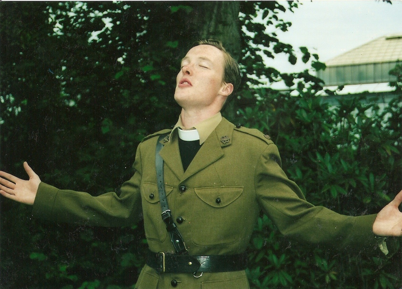 God bothering - playing Canterbury in a WWI set Henry V.  A production that garnered wonderful reviews