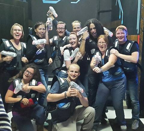 Birthday laser tag!  Heaps of fun - especially since I won.  Or I would have won if I checked it