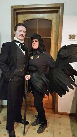 Which resulted in this!  Edgar Allan Poe and The Raven!