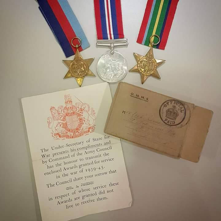 My great uncle Allans war medals