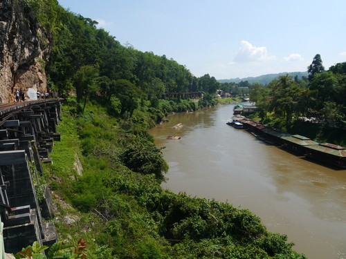 The Death Railway along the banks of the river Kwai