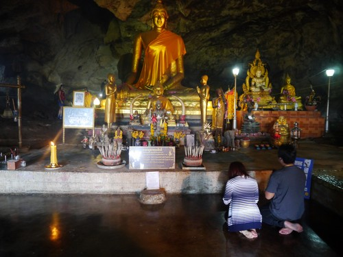 The Buddha in the cave - it used to serve as a makeshift infirmary