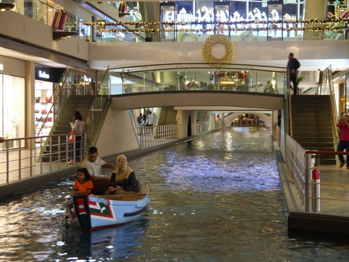 A boating canal in a mall - obviously.