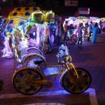 These cycles are everywhere - bright lights and blasting out kitsch pop.  Kids love it.