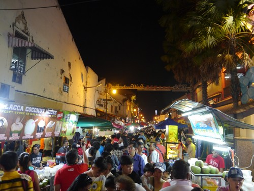 The night market walk - fun and fantastic food, but a little too many people.  It is the holidays here after all though.