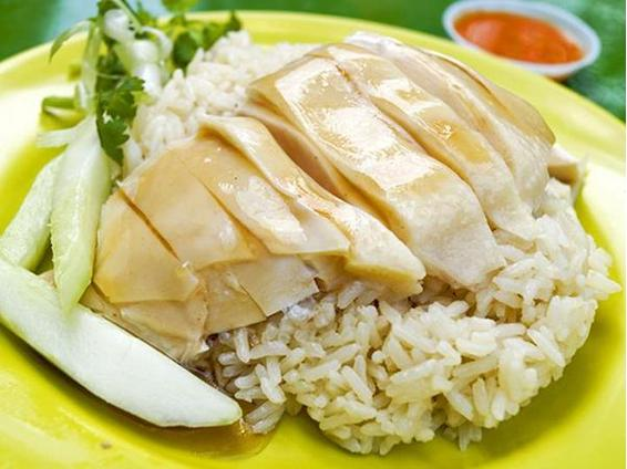 Chicken rice.  Because I'm not one of those pillocks who takes photographs of my food, I borrowed this from google.