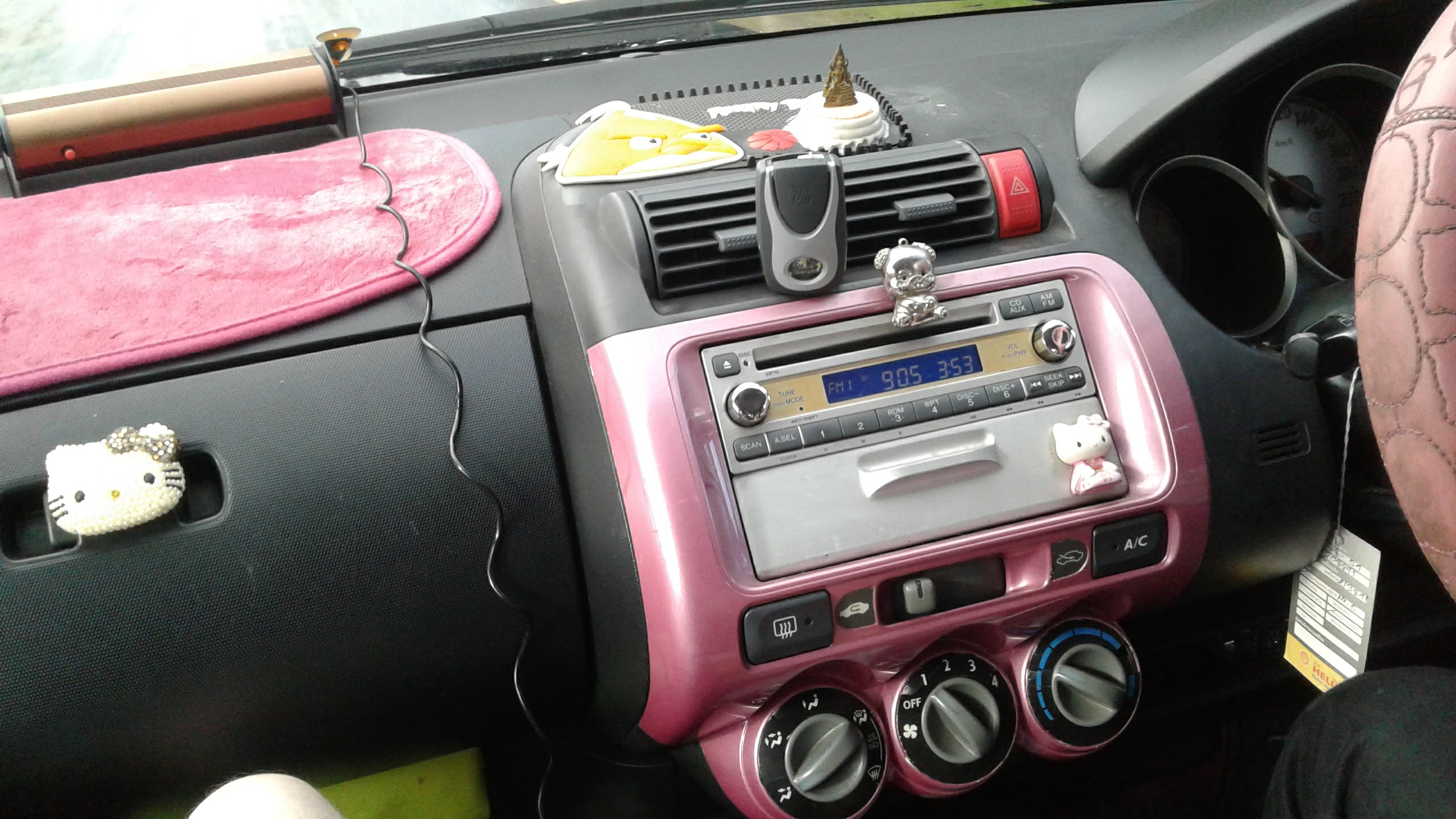 Hello Kitty dashboard.