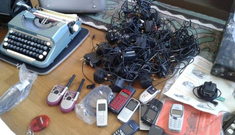 Why oh why did we keep this stuff? After trying and hoping I could sell the chargers to an artist, I dumped them in the bin.