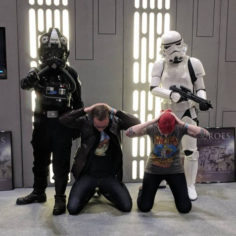 Rebel scum on our birthday. London Comic Con geek fest.