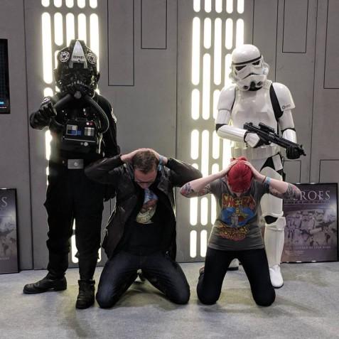 Rebel scum on our birthday. London Comic Con geek fest.