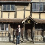 In front of Shakespeare's house, Stratford-Upon-Avon.