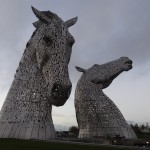 The Kelpies, Falkirk. Largest sculpture of its kind in the UK and totally awesome.