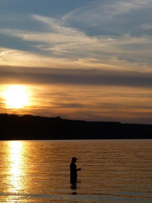 A Fisherman at the Finger Lakes