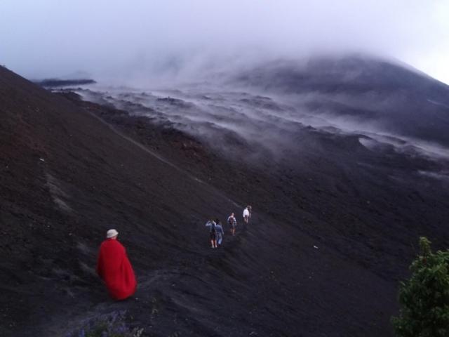 Climbing the Pacaya volcano, Guatemala