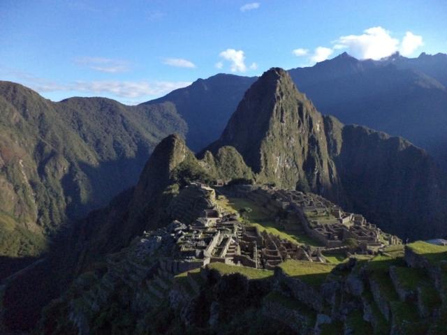 Machu Picchu in the early morning sun