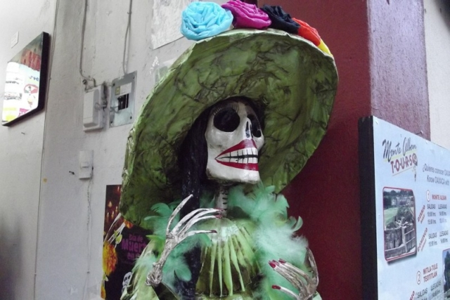 A day of the dead effigy in Oaxaca, Mexico