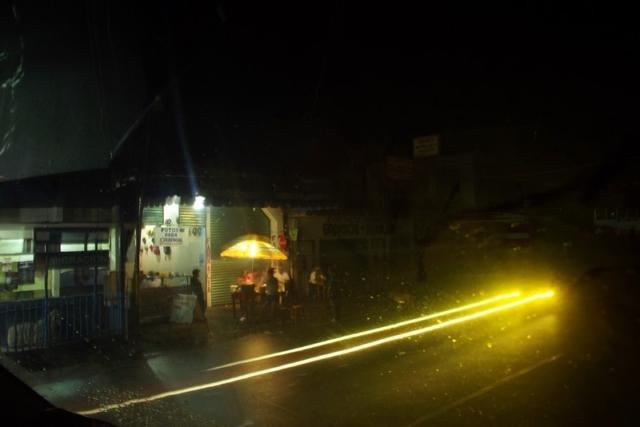 Crossing into Guatemala at night