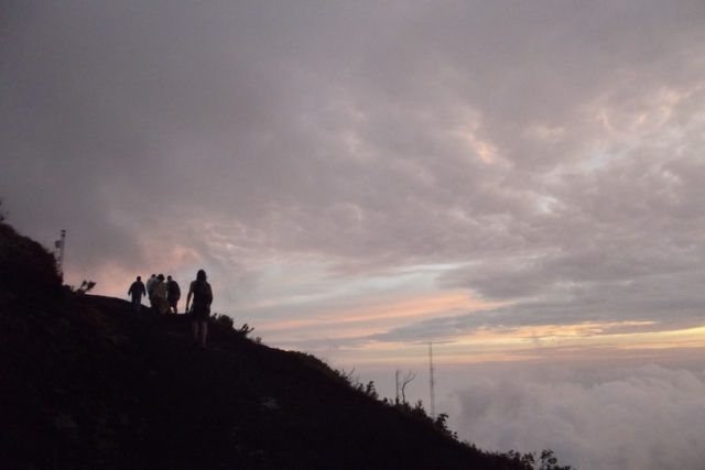 Hiking an active volcano in Guatemala