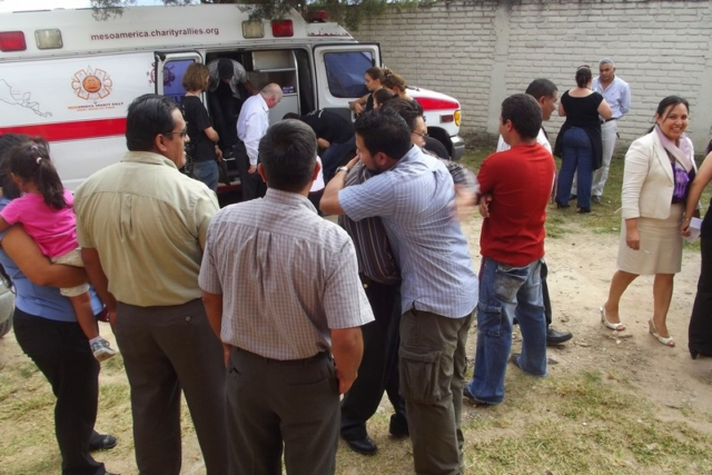 The sheer delight when we delivered the charity ambulances in Honduras