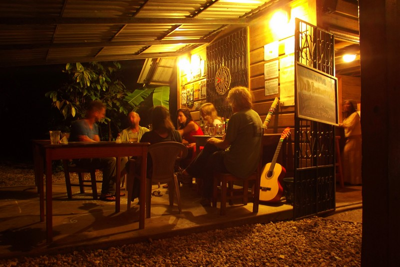 At the D&D Brewery and Hostel, Honduras