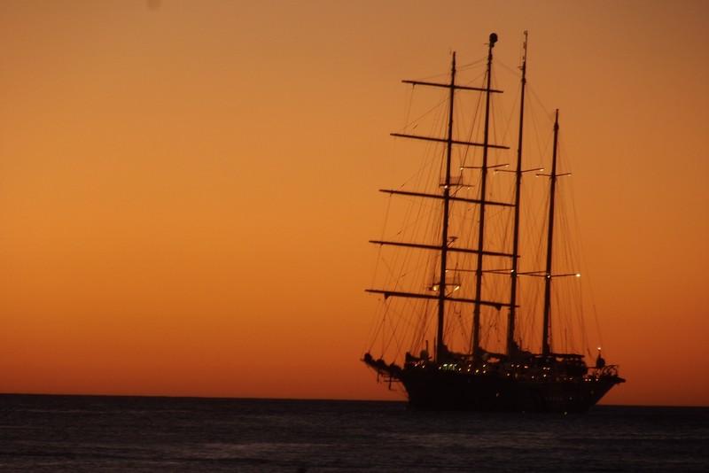 A tall ship in San Juan Del Sur bay, Nicaragua