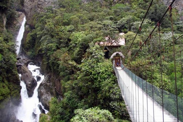 The waterfall tour near Banos, Ecuador