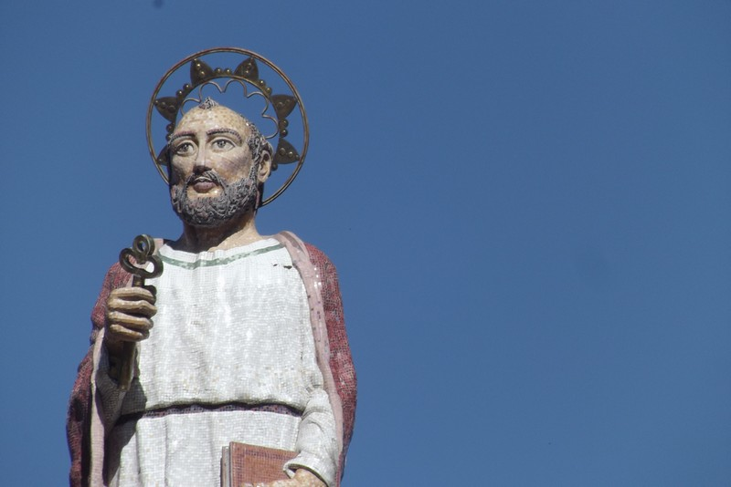 A statue of St Peter somewhere in Ecuador