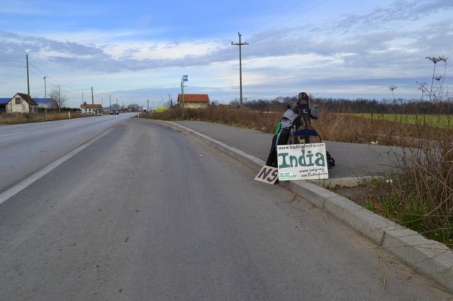 A main road just south of Novi Sad