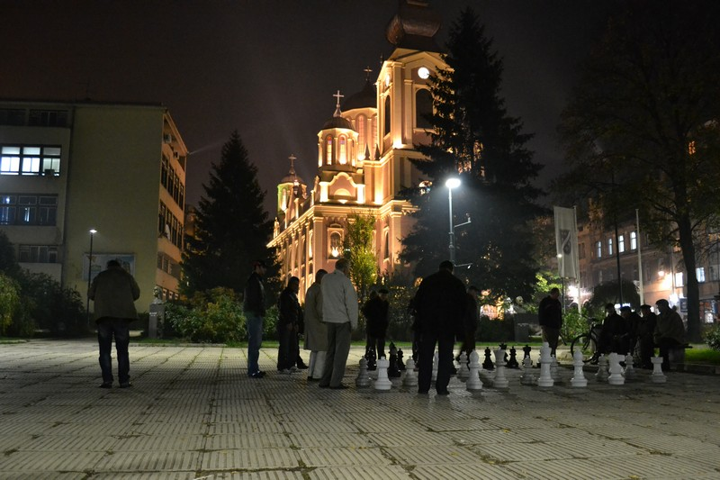 Old men playing chess in Sarajevo