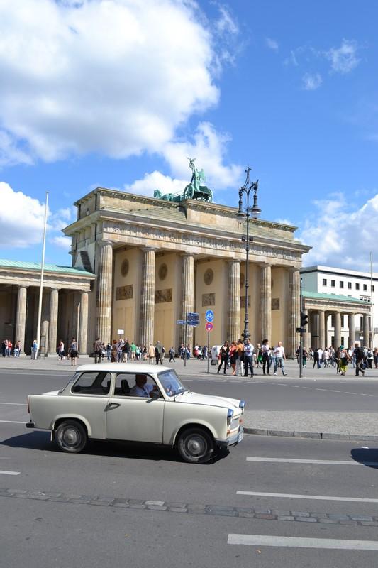 The Brandenburg Gate and German car