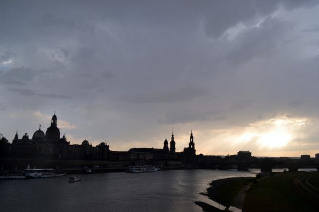 Dresden skyline before a storm