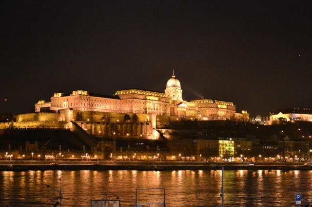 The Budapest Parliament at Night across the Danube